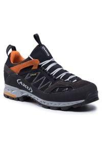 Aku - Trekkingi AKU - Tengu Low Gtx GORE-TEX 976 Black/Orange 108. Kolor: czarny. Materiał: skóra, materiał, zamsz. Szerokość cholewki: normalna. Technologia: Gore-Tex. Sport: turystyka piesza