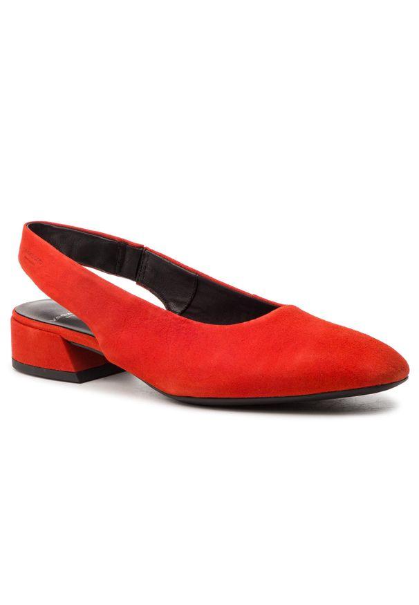 Czerwone sandały vagabond casualowe, na co dzień