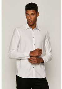 Biała koszula medicine z klasycznym kołnierzykiem, na co dzień, klasyczna, długa