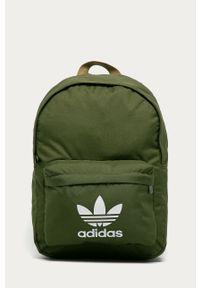 Oliwkowy plecak adidas Originals z nadrukiem