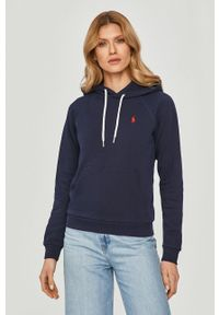 Polo Ralph Lauren - Bluza bawełniana. Okazja: na co dzień. Typ kołnierza: polo. Kolor: niebieski. Materiał: bawełna. Długość rękawa: długi rękaw. Długość: długie. Styl: casual