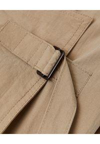 ISABEL MARANT - Beżowy trencz Ilifawn. Kolor: beżowy. Materiał: materiał. Długość: długie. Styl: elegancki #5
