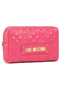Różowa kosmetyczka Love Moschino