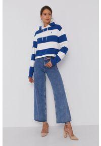 Polo Ralph Lauren - Bluza. Typ kołnierza: polo. Kolor: niebieski. Długość rękawa: długi rękaw. Długość: długie