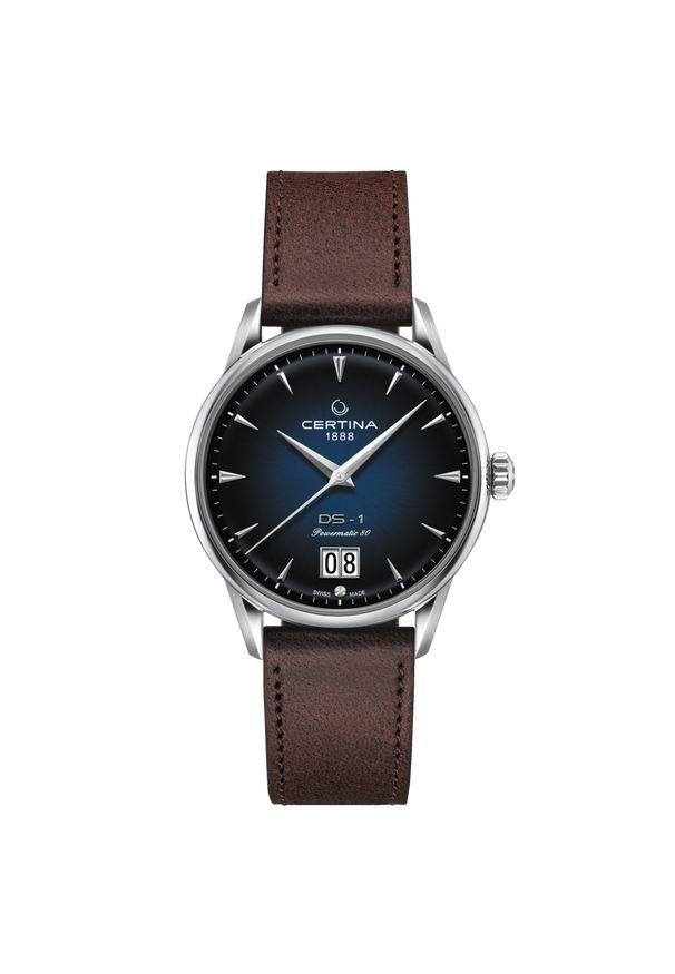 Niebieski zegarek CERTINA