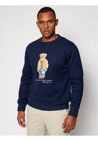 Polo Ralph Lauren Bluza Magic Fleece 710829165001 Granatowy Regular Fit. Typ kołnierza: polo. Kolor: niebieski