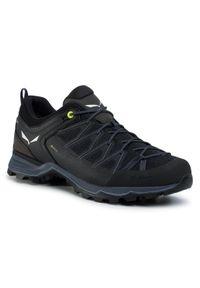 Czarne buty trekkingowe Salewa Gore-Tex, z cholewką, trekkingowe
