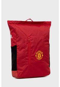 adidas Performance - Plecak. Kolor: czerwony. Materiał: materiał