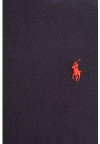 Niebieska koszulka z długim rękawem Polo Ralph Lauren polo, casualowa, na co dzień