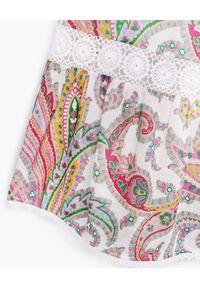 ZIMMERMANN KIDS - Sukienka ze wzorem Teddy Halter. Typ kołnierza: dekolt halter. Kolor: biały. Materiał: bawełna, koronka. Długość rękawa: na ramiączkach. Wzór: aplikacja, kolorowy, paisley, koronka, haft. Sezon: lato