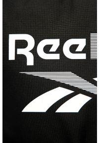 Reebok - Plecak. Kolor: czarny. Materiał: materiał, poliester. Wzór: nadruk, gładki, paski #5