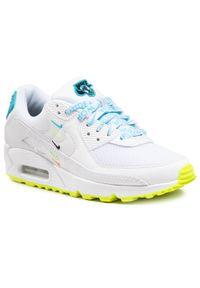 Białe półbuty Nike na płaskiej podeszwie, z cholewką