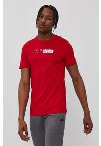 4f - 4F - T-shirt. Kolor: czerwony. Materiał: dzianina. Wzór: nadruk