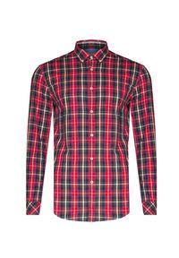 Czerwona koszula Napapijri button down, w kratkę
