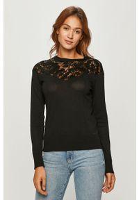 Czarny sweter Desigual casualowy, z długim rękawem, na co dzień