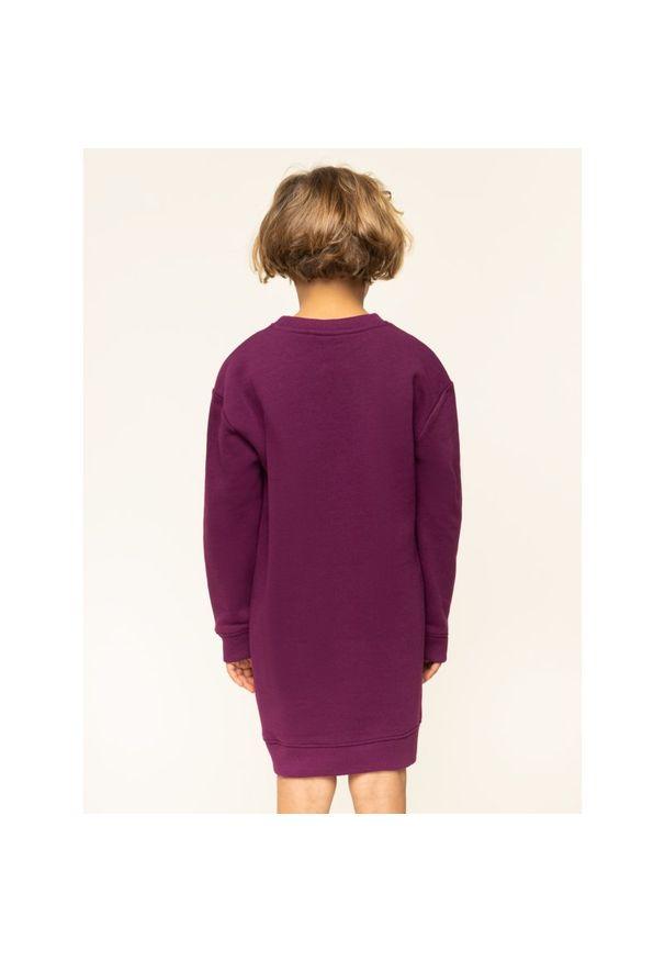 Fioletowa sukienka Calvin Klein Jeans casualowa, prosta, na co dzień