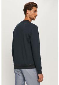 Niebieska bluza nierozpinana Armani Exchange casualowa, z nadrukiem, na co dzień, bez kaptura
