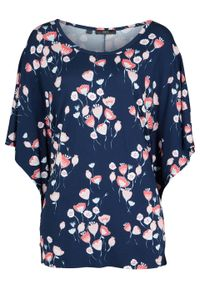 Niebieska bluzka bonprix w kwiaty