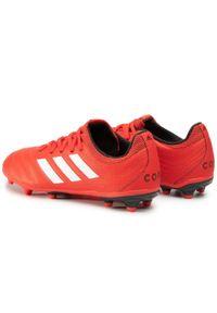 Czerwone buty do piłki nożnej Adidas na co dzień, z cholewką