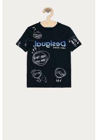 Niebieski t-shirt Desigual na co dzień, casualowy #3
