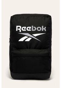 Reebok - Plecak. Kolor: czarny. Materiał: materiał, poliester. Wzór: nadruk, gładki, paski #1
