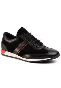 Czarne sneakersy QUAZI na co dzień, z cholewką