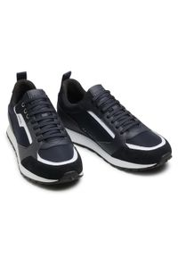 Hugo - Sneakersy HUGO - Icelin 50451740 10234982 01 Dark Blue 401. Okazja: na co dzień. Kolor: niebieski. Materiał: zamsz, materiał, skóra ekologiczna. Szerokość cholewki: normalna. Styl: casual, elegancki