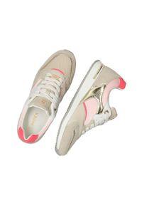 MEXX - Mexx - Buty Gemma. Nosek buta: okrągły. Zapięcie: sznurówki. Kolor: beżowy. Materiał: skóra, guma