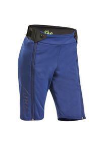 WEDZE - Spodenki narciarskie 980 dla dzieci. Kolor: niebieski. Materiał: poliester, elastan, poliamid, materiał. Sport: narciarstwo