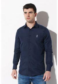 Niebieska koszula Edward Orlovski długa, elegancka
