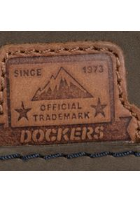 Zielone botki Dockers na obcasie, z cholewką, na średnim obcasie #8