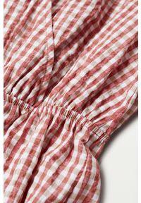 Czerwona sukienka mango rozkloszowana, z krótkim rękawem