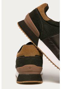 Brązowe sneakersy Big-Star na sznurówki, z cholewką