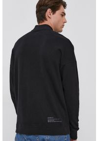 Drykorn - Bluza bawełniana Fabian. Kolor: czarny. Materiał: bawełna. Wzór: gładki