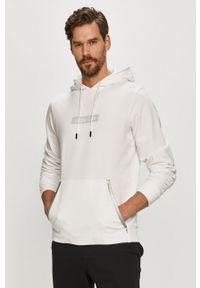 Biała bluza nierozpinana Calvin Klein Performance z kapturem, z nadrukiem