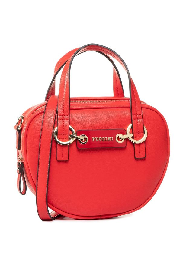Czerwona torebka klasyczna Puccini klasyczna