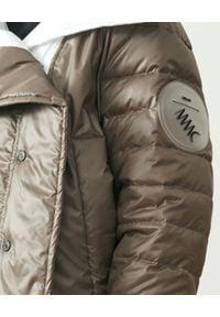 MMC STUDIO - Dwustronna kurtka z logo Dale Light. Kolor: brązowy. Materiał: jeans, tkanina, guma. Wzór: aplikacja. Sezon: wiosna