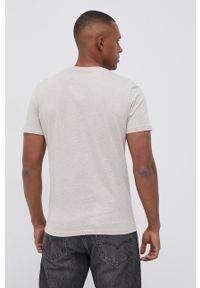 Tom Tailor - T-shirt. Okazja: na co dzień. Kolor: beżowy. Materiał: bawełna, dzianina. Wzór: gładki. Styl: casual