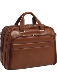 """Torba MCKLEIN Biznesowa męska torba skórzana na laptopa Springfield 17"""" kolor brązowy. Kolor: brązowy. Materiał: skóra. Styl: biznesowy"""