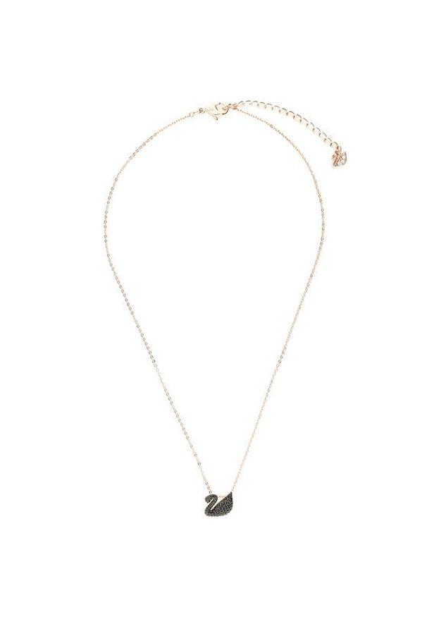 Swarovski Naszyjnik Iconic Swan 5204133 Złoty. Materiał: złote. Kolor: złoty