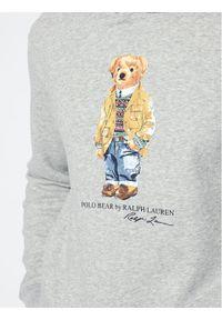 Polo Ralph Lauren Bluza Magic Fleece 710829166002 Szary Regular Fit. Typ kołnierza: polo. Kolor: szary
