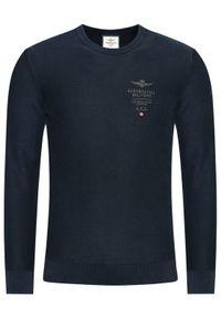 Niebieski sweter klasyczny Aeronautica Militare