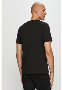 Czarny t-shirt Puma z nadrukiem, casualowy