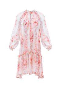 NEEDLE & THREAD - Sukienka w kwiaty Ruby Bloom. Okazja: na imprezę. Kolor: biały. Materiał: materiał. Wzór: kwiaty. Sezon: lato. Styl: elegancki. Długość: mini