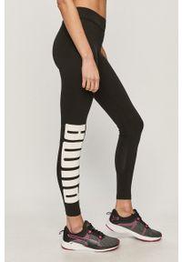 Czarne legginsy Puma z nadrukiem