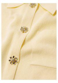 mango - Mango Bluzka Broto 87057651 Żółty Regular Fit. Kolor: żółty