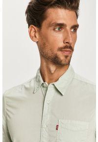 Zielona koszula Levi's® krótka, w kolorowe wzory, casualowa, na spotkanie biznesowe