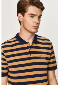 Złota koszulka polo Only & Sons polo, na co dzień, casualowa