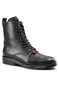 Czarne botki Carinii