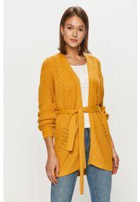 Oliwkowy sweter rozpinany Vila długi, na co dzień, z długim rękawem, casualowy